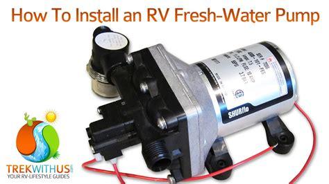 install  shurflo fresh water pump rv diy youtube