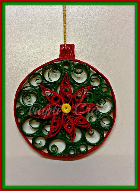 Paper Craft Ornaments - trupti s craft paper quilling ornament