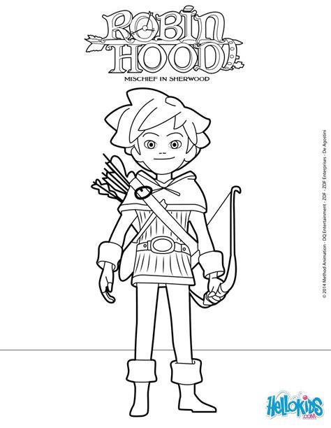 Robin Hood  Mischief In Sherwood Coloring Pages Hellokidscom sketch template