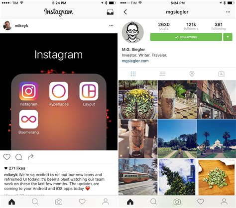 layout instagram account instagram is redesigning its ios app and will add new