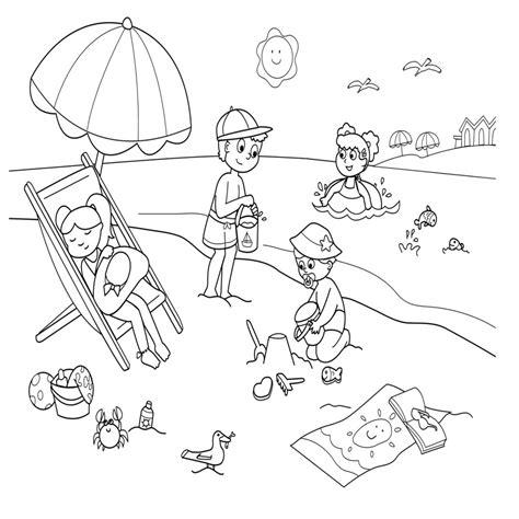 imagenes de niños jugando con hojas de otoño dibujos para colorear e imprimir verano