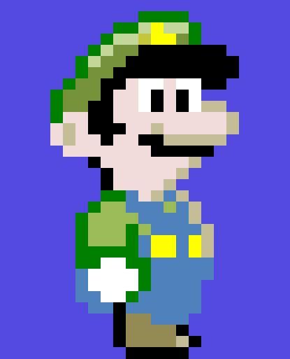 pixelated mario characters pixel luigi super mario world by nindo321 on deviantart