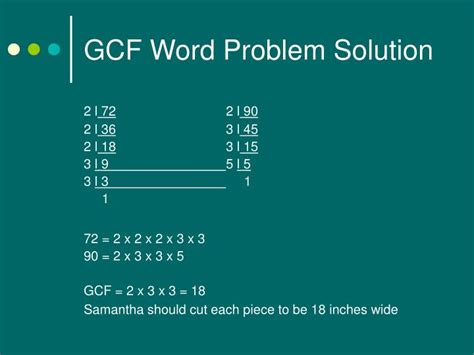 powerpoint tutorial gcf ppt gcf and lcm problem solving powerpoint presentation