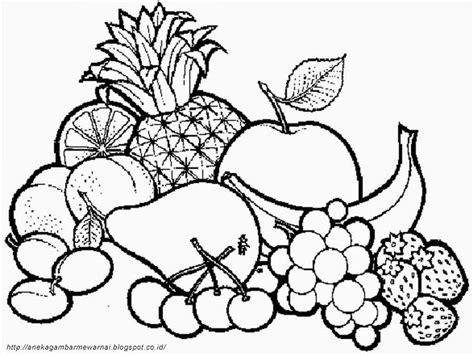 Keranjang Bayi Untuk Di Mobil gambar mewarnai buah buahan dalam keranjang untuk anak