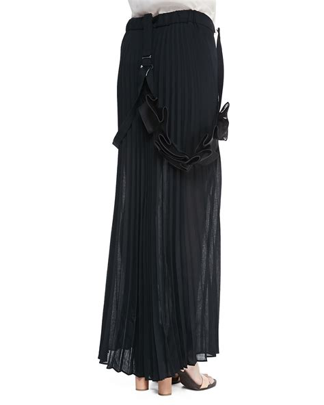 brunello cucinelli pleated skirt w suspenders in
