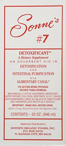 Sonne S No 7 And 7 Detox by Sonne S Detoxification No 7 32 Fluid Ounce Lifestyle