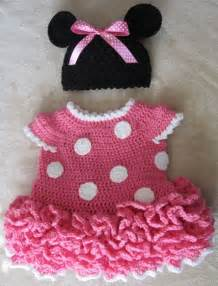 Minnie mouse crochet dress and ears in pink by juliescrochet33 45 00
