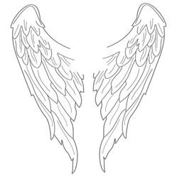 wings of coloring pages simple wings drawing clipart best