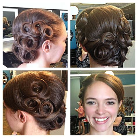 Pin Curls Updo Hairstyles by Best 25 Pin Curl Updo Ideas On