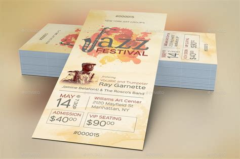 Event Ticket Template by Jazz Event Ticket Template By Godserv2 Graphicriver