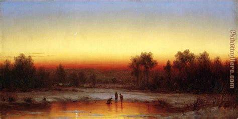 twilight painting sanford robinson gifford a winter twilight painting