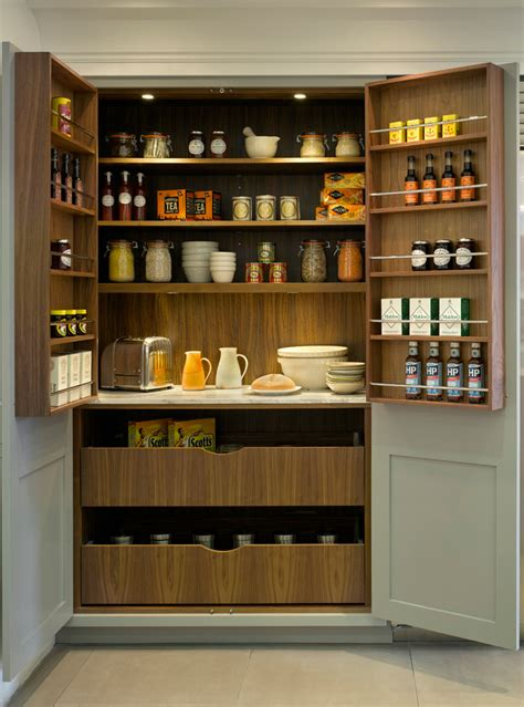 Cabinet Food Pantry Pantry Storage Cabinet Kitchen Transitional With Bespoke