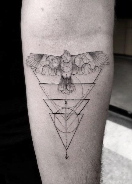 geometric tattoo woo hawk and triangles tattoo by dr woo tattoomagz