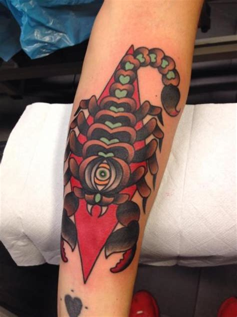 arm new scorpion tattoo by filip henningsson