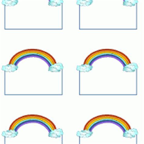 free printable rainbow name tags rainbow tag