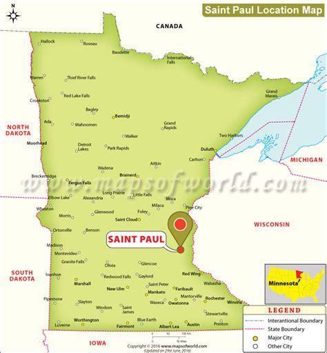 maps minnesota usa where is paul located in minnesota usa