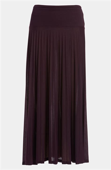 topshop high waist maxi skirt in purple burgundy lyst