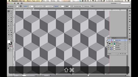 scale pattern adobe illustrator create an isometric cube pattern in adobe illustrator