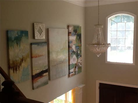 2 story foyer decor two story foyer large painting gallery wall foyer