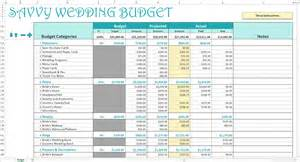 Wedding Budgets Template by Savvy Wedding Budget Excel Calendar Savvy Spreadsheets