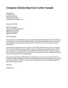 scholarship cover letter sample 1