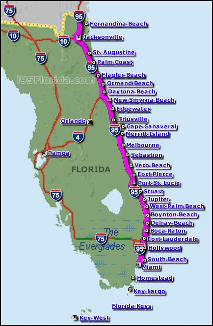 florida map beaches east coast beaches maps of florida and list of beaches east coast and