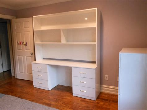 white desk with hutch and dresser