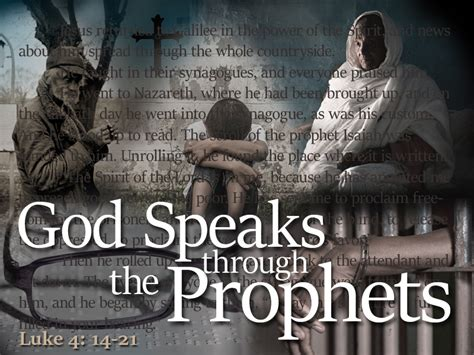 The Prophets january 24 2016 message god speaks through the prophets