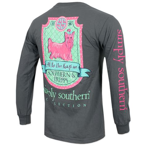 Simply Grey simply southern sleeve t shirt gray