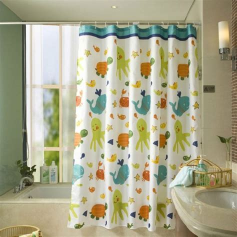 one fish two fish shower curtain mylifeunit tortoise fish waterproof shower curtain