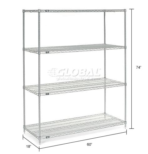 wire shelving stainless steel nexel stainless steel