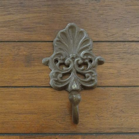 shabby chic wall hook cast iron hook metal wall hook