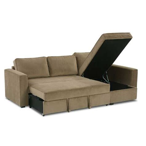 studio apartment sofa rue 2pc sectional with pull out bed for the home