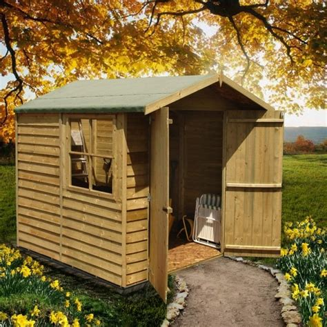 7 X 7 Garden Sheds by Shire Overlap Apex Pressure Treated Shed 7x7 Garden