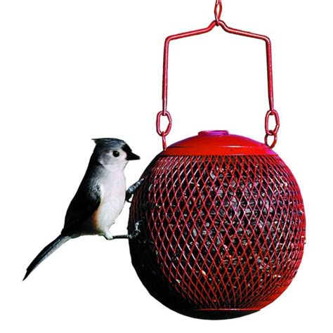 no no red seed ball wild bird feeder squirrel proof bird