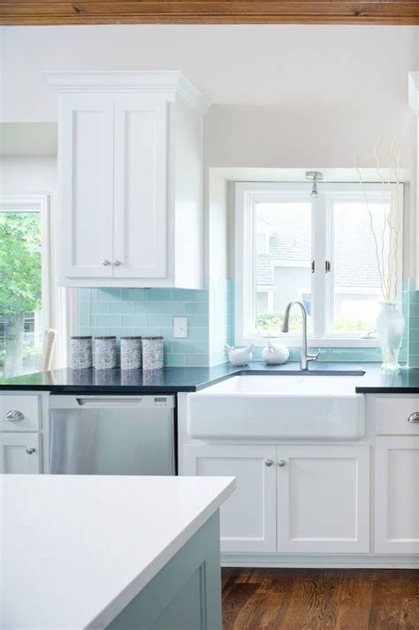 blue tile backsplash kitchen best 20 blue backsplash ideas on