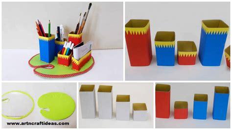 How To Make A Desk Organizer by How To Make Diy Desk Organizer Craft Ideas