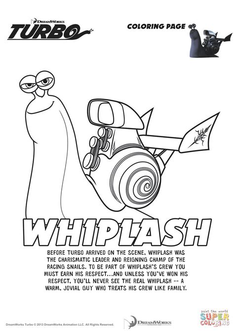 printable turbo coloring page whiplash from turbo coloring page free printable