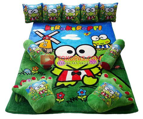 Karpet Karakter Set Keroppi karpet selimut set karakter lembut motif kartun dewasa