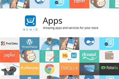 apps ecwid e commerce widgets