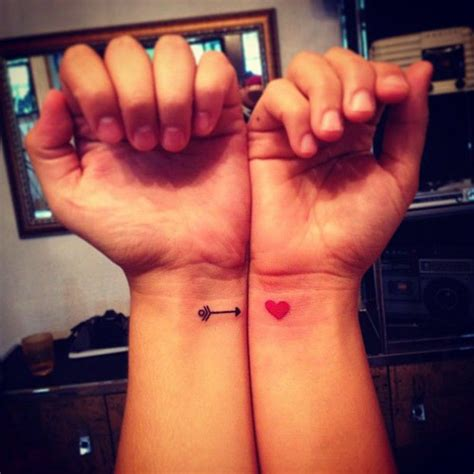 couple tattoo heartbeat 15 awesome and romantic couples tattoos pbj guff