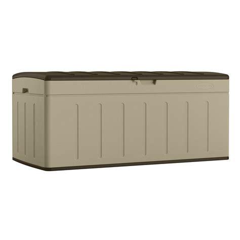 suncast outdoor cabinet assembly instructions suncast 99 gal resin deck box bmdb9900 the home depot