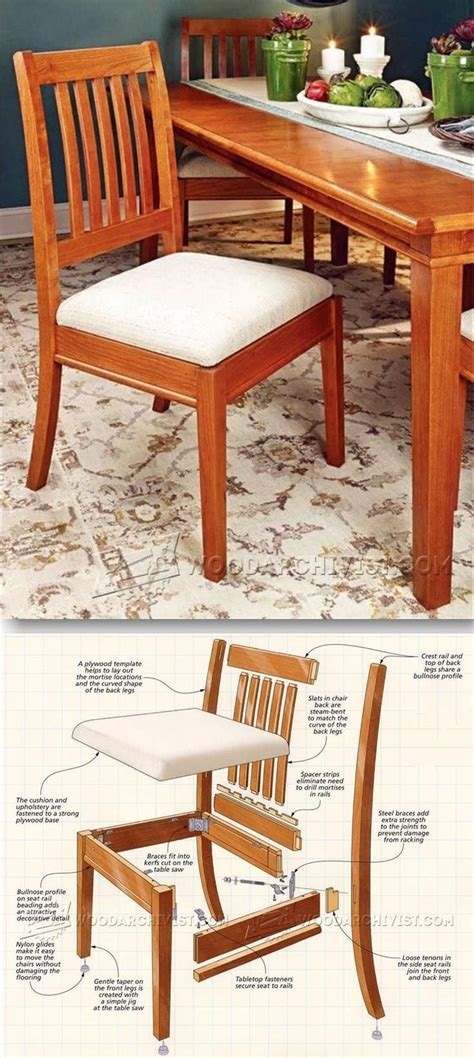 dining chair plans furniture plans and projects