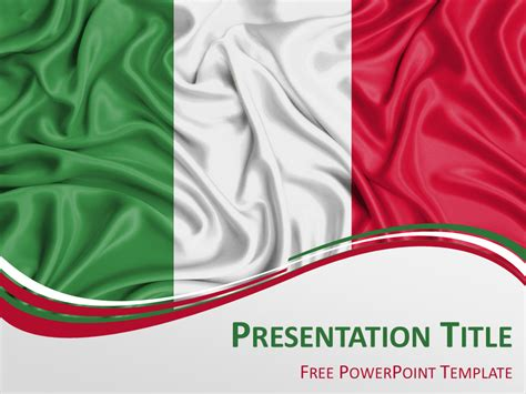 italian powerpoint templates italy flag powerpoint template presentationgo