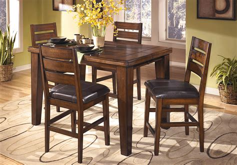 larchmont square counter height dining table and 4 chairs