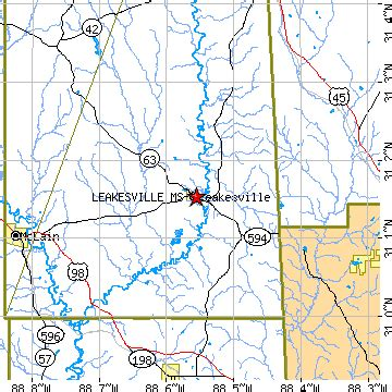 leakesville, mississippi (ms) ~ population data, races