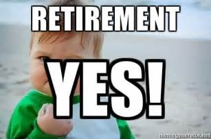 Retirement Meme - retirement yes fist pump baby meme generator