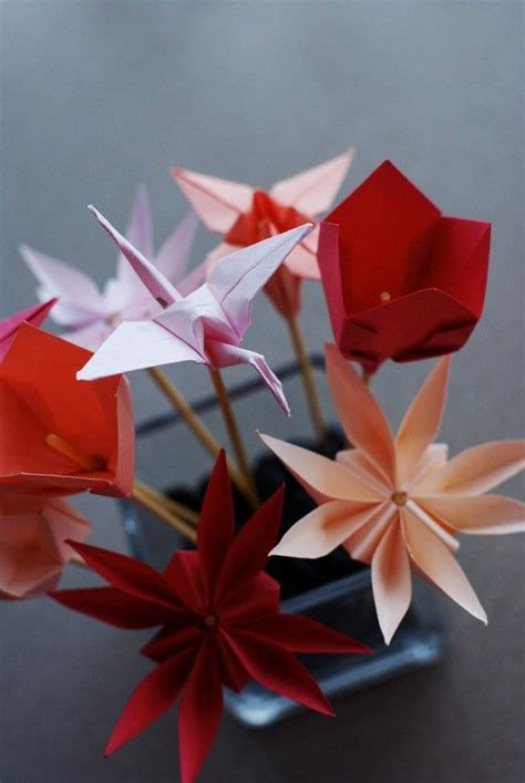 Origami For Flowers - origami flowers ocios
