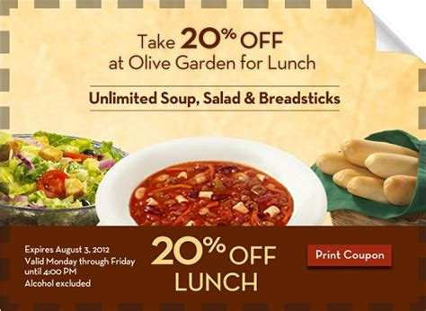 printable olive garden lunch coupons 20 off olive garden lunch coupon addictedtosaving com