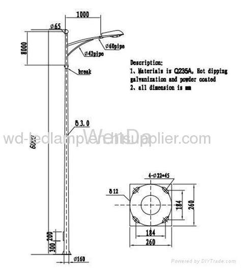 lighting columns 6m Street lighting pole from China manufacturer Ningbo Lifu Electronic